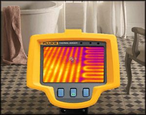 Heated Bathroom Floor verified with Infrared Camera